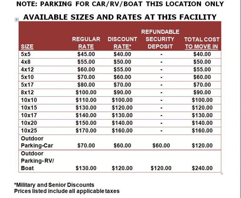 2019-Wrightstown I Facility Rates